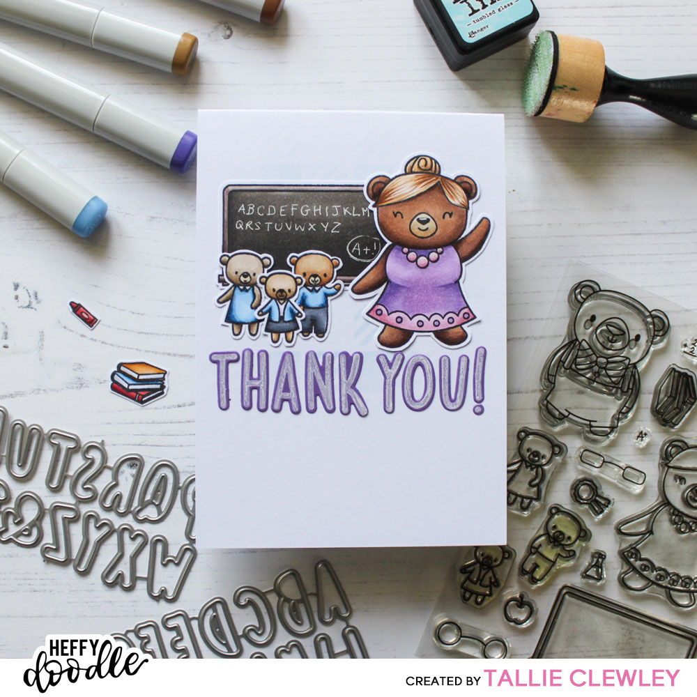 Handmade Teacher Appreciation Card - Heffy Doodle